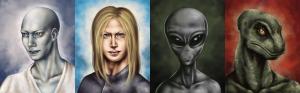 Andromedan, Pleiadian, Grey (DOW) and Reptilian